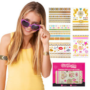 Temporary tattoos for girls/ Flash tattoos for girls/ Tattoos that sparkle