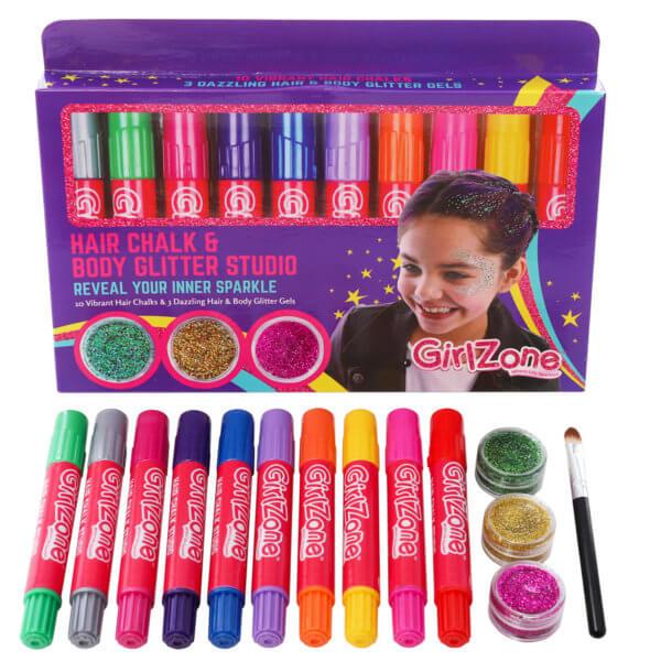 Hair Chalk & Body Glitter Gels