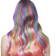 wavy colored hair