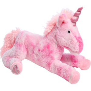 Large pink unicorn stuffed toy, Big pink unicorn teddy
