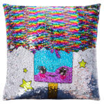 Reversible colour-changing, sequin pillow for girls, Birthday gift for girls age 4 5 6 7 8 and 9