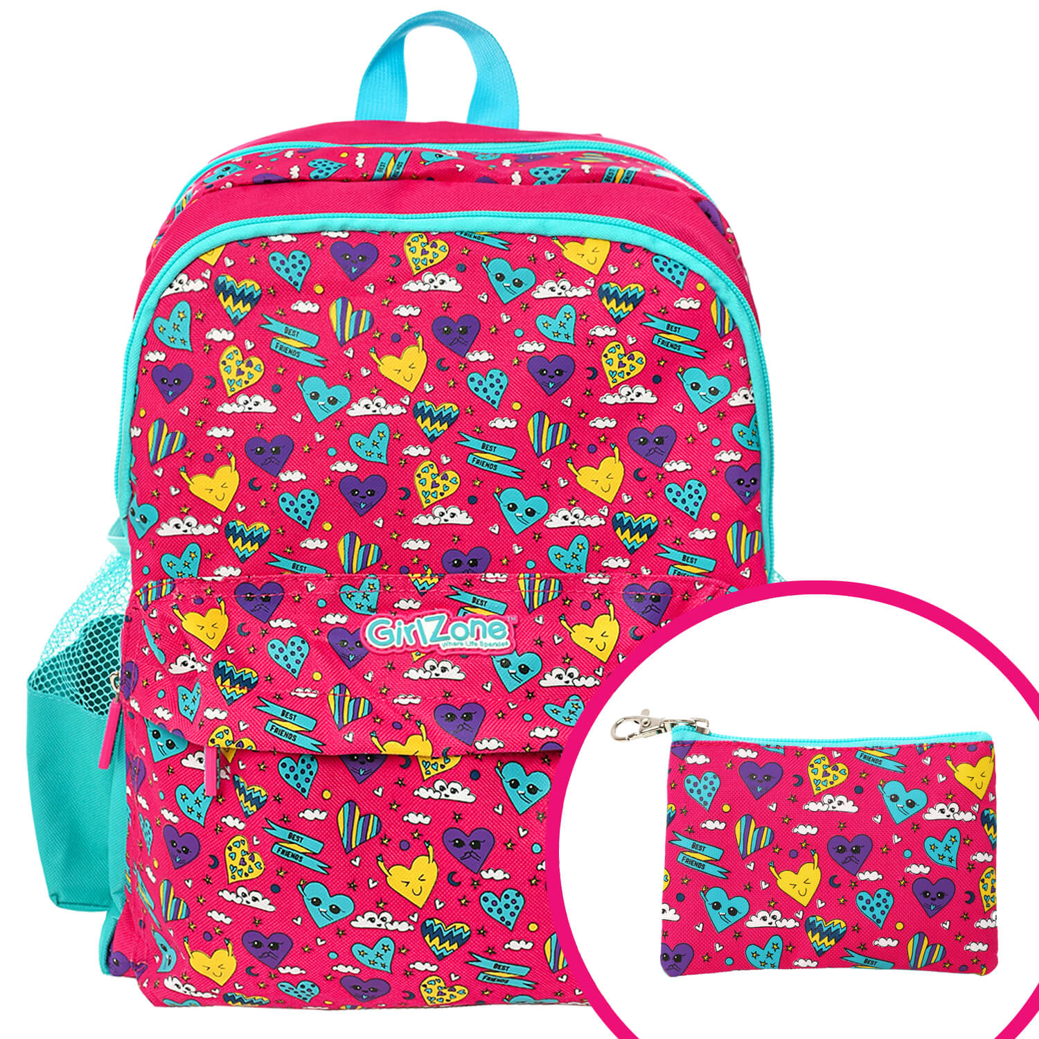 GirlZone Pink Backpack for girls