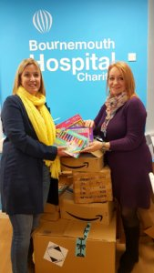 GirlZone CEO delivers gifts to hospital