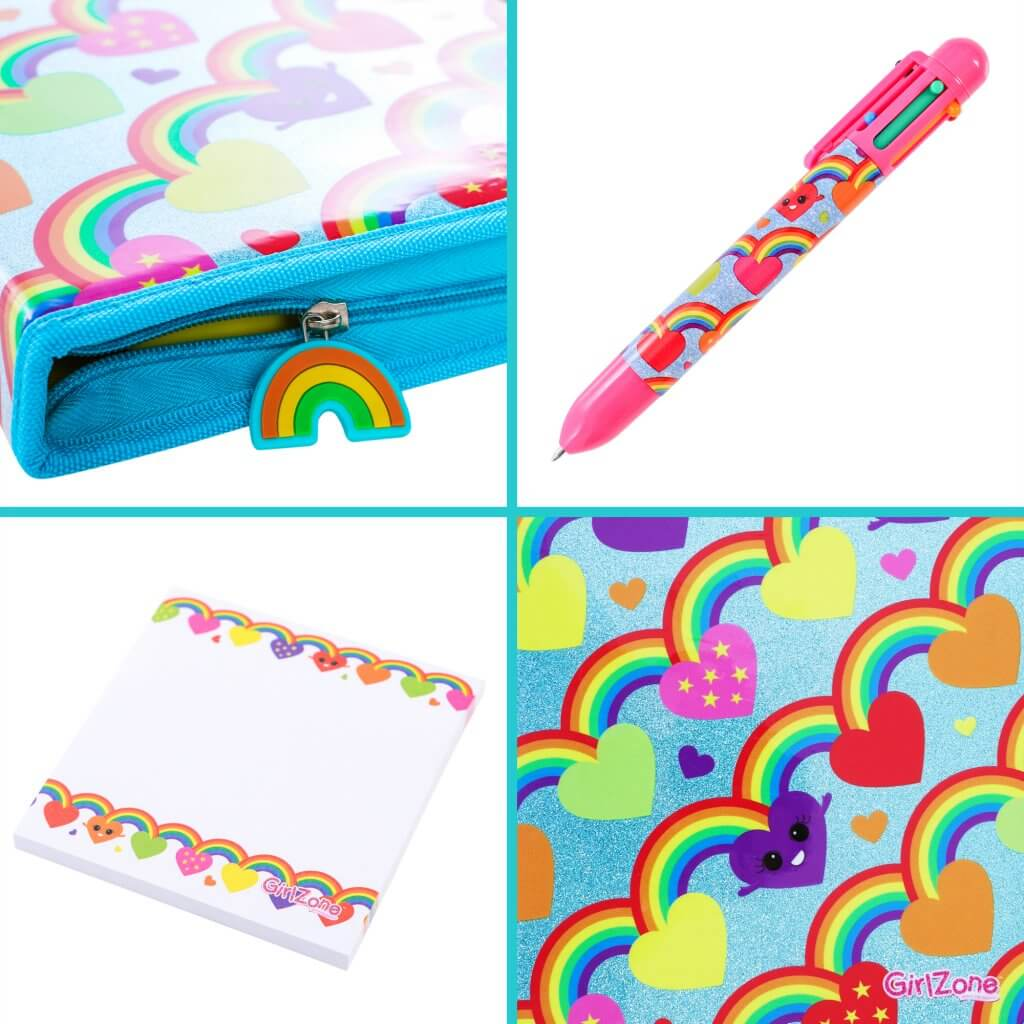 Glitter Zipper Stationery Set