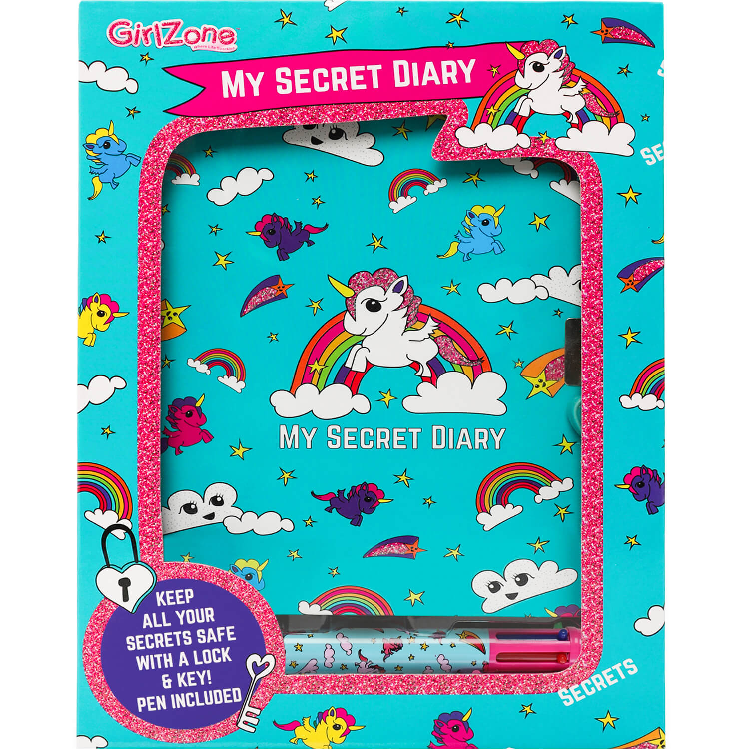 Girls' lockable diary, Lockable diary for girls
