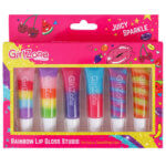 Juicy Rainbow Lip Gloss Set for Girls, Lip gloss set for girls