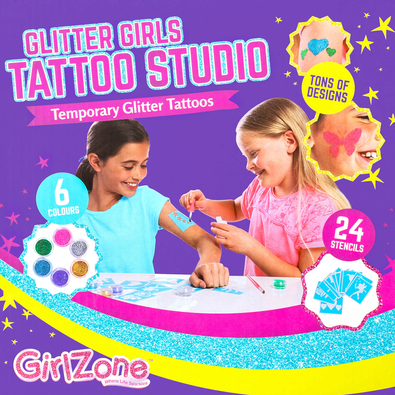 Girls Glitter Tattoo Studio boxfront-2
