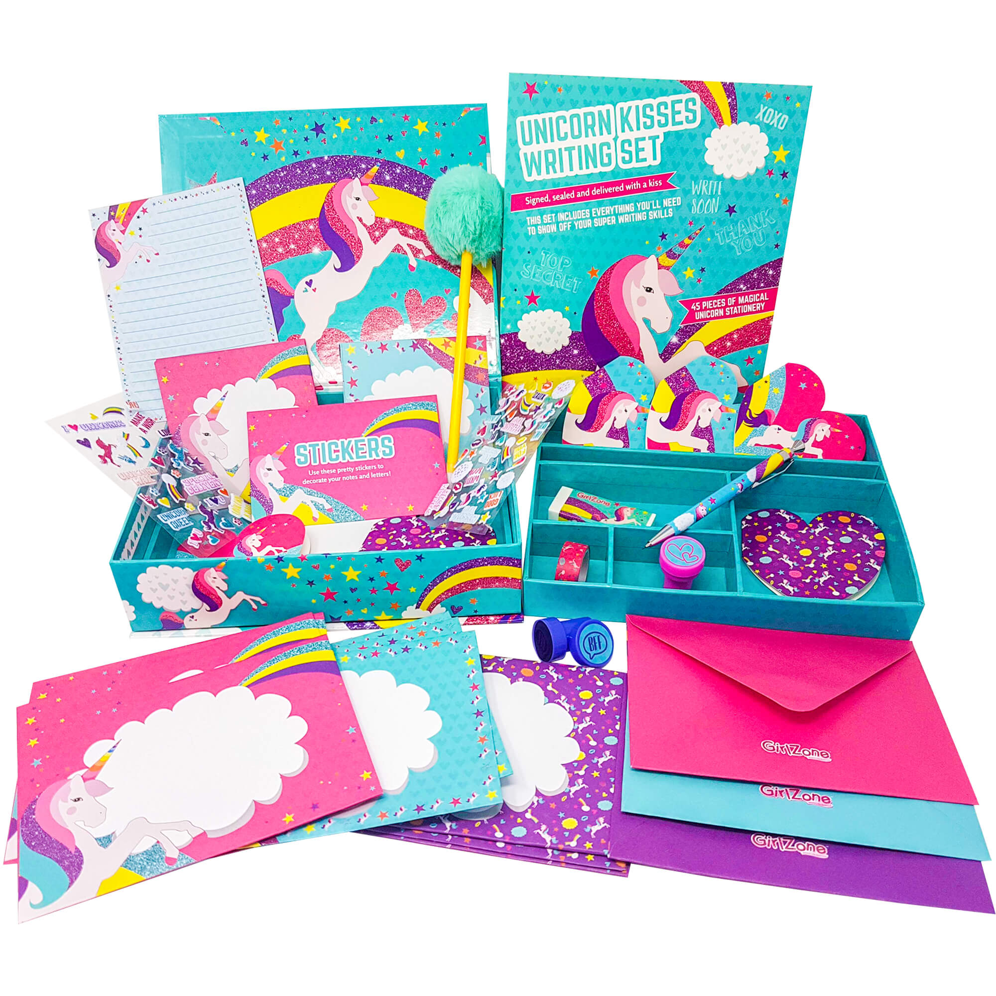Unicorn Kisses Writing Set